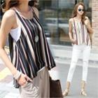 Striped Flared Camisole Top