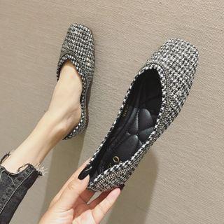 Square-toe Flats (various Designs)