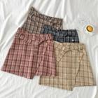 Asymmetric Color-block High-waist Skirt