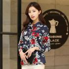 3/7-sleeve Floral Shirt