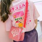 Plaid Canvas Crossbody Bag