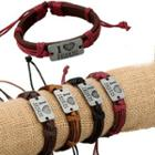 Tagged Genuine Leather Bracelet