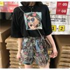 Printed Short-sleeve T-shirt / Printed Shorts