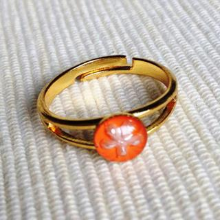 Resin Little Snowflake Ring (orange) One Size