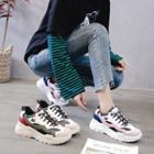 Contrast Detail Platform Sneakers