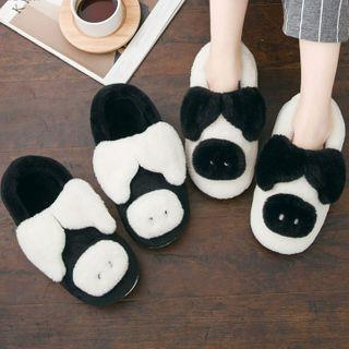 Furry Pig Slippers