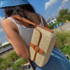 Buckled Rattan Shoulder Bag
