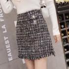High Waist Tweed Skirt
