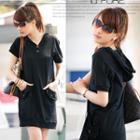 Short-sleeve Hooded Dress