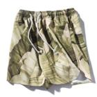 Couple Matching Leaf Print Shorts