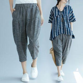 Striped Harem Pants As Shown In Figure - One Size