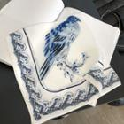 Bird Print Square Scarf