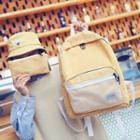 Corduroy Backpack With Pouch