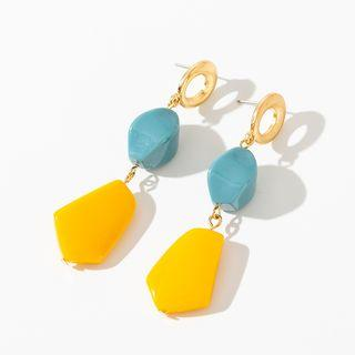 Non-matching Drop Earring 1 Pair - Blue & Yellow - One Size