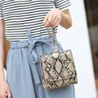 Croc-grain Faux Leather Crossbody Bag
