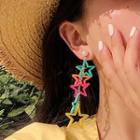 Alloy Star Dangle Earring 1 Pair - Long Star - One Size