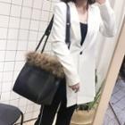 Faux-fur Trim Shoulder Bag