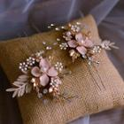 Wedding Faux Pearl Branches Hair Stick Gold - One Size