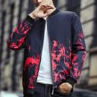 Flame Print Zip Jacket