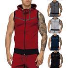 Short-sleeve Zip Hooded Vest