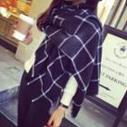 Plaid Fray Scarf