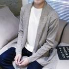 Shawl Collar Plain Cardigan
