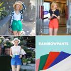 High-waist Linen Blend Shorts