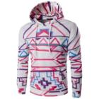 Hooded Patterned Pullover