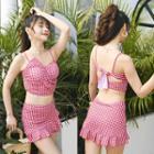 Set: Checker Bikini Top + Swim Skirt