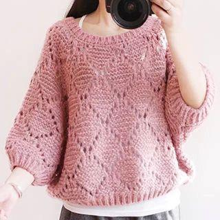 3/4 Batwing Sleeve Sweater