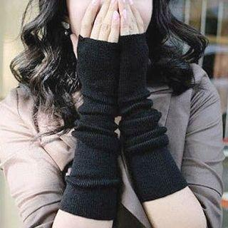 Fingerless Gloves Dot - Black - One Size