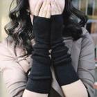 Fingerless Gloves Dot - Black - One Size