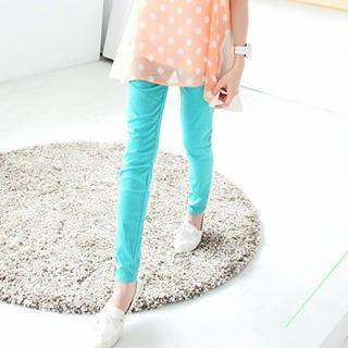 Elastic-waist Slim-fit Pants