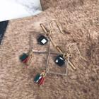 Geometric Tasseled Earrings