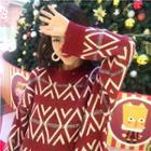 Rhombus Pattern Chunky Sweater
