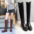 Chunky Heel Long Boots