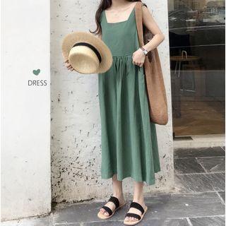 Sleeveless Midi Dress Green - One Size
