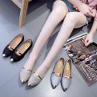 Pointy Toe Glitter Flats