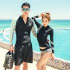 Couple Matching Set: Rashguard + Swim Bottom