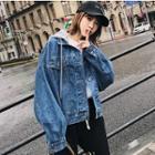 Oversized Hooded Denim Jacket