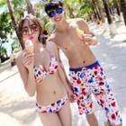 Patterned Bikini Set / Beach Shorts