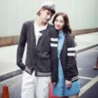 Couple Matching Striped Cardigan
