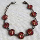 Copper Ribbon Bracelet (red) One Size