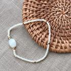 Bead Bracelet Beige - One Size