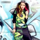 Printed Camouflage Hooded Pullover