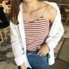 Stripe Spaghetti Strap Top