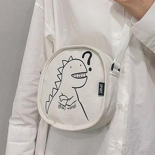 Dinosaur Print Circle Crossbody Bag