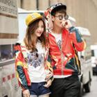 Couple Hooded Printed Jacket