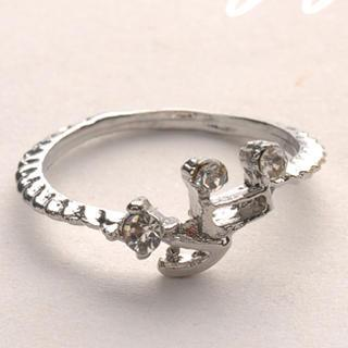 Diamond Note Ring - Silver Silver - One Size