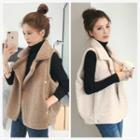 Furry Double Breasted Vest